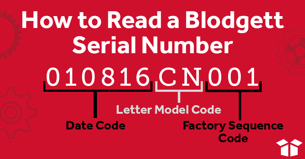 How to Read a Blodgett Serial Number