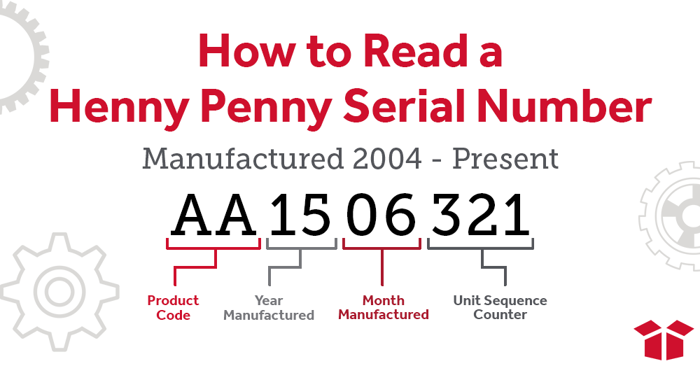 How to Read a Henny Penny Serial Number from 2004-present